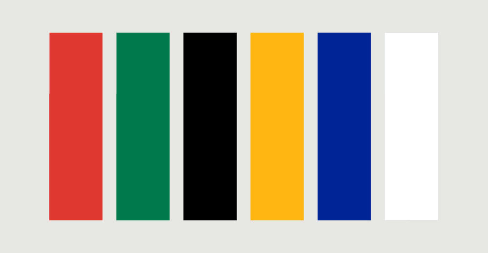 Colors of the south african flag