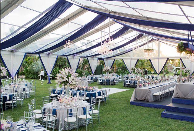 It was a beautiful day to get married! * * * #bahamaswedding #weddingdecor #tent #weddingtent