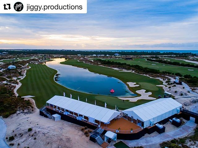 #Repost @jiggy.productions Thank you for this amazing photo of our tents at the Hero world challenge site! ・・・ #heroworldchallenge #albanybahamas #tents #wildflowersbahamas #gulf