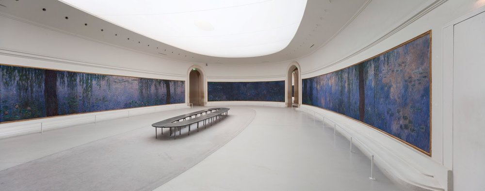 Water Lilies at Musée de l'Orangerie's, Source: https://keithparry.files.wordpress.com/2014/08/monet-lorangerie-paris.jpg