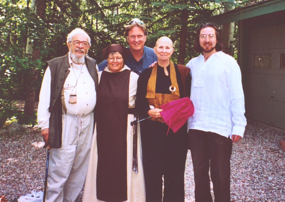 Zalman Schachter-Shalomi, Tessa Bielecki, Edward Bastian, Joan Halifax, and Netanel Miles-Yépez in Aspen, CO. (2004),