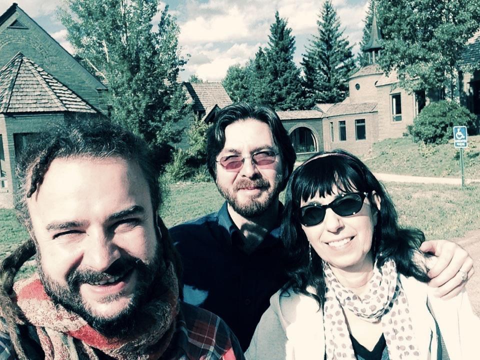 Adam Bucko, Adam Bucko, Netanel Miles-Yépez, and Beverly Lanzetta at St. Benedict's Monastery, Snowmass, CO. (A. Bucko, 2014)