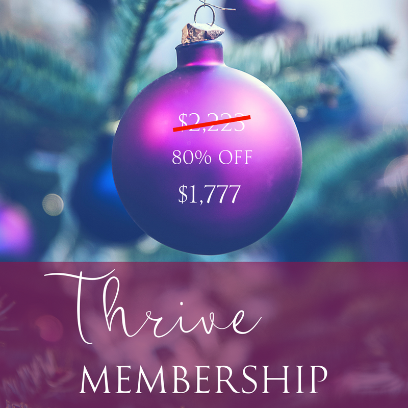 Thrive Membership   6 private 60 minute sessions for guidance and healing (used in 2018)  (a year of distant readings, healing & space clearings for 2018)  This is my BEST package to check in monthly for energy healing-to stay High Vibe all year! $1777 or 4 payments of $464  (Savings of Over 50% off - $2547)