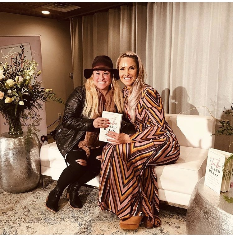 with Lori Harder ~ Tribe Called Bliss event and book signing! Love this Lady! 2018