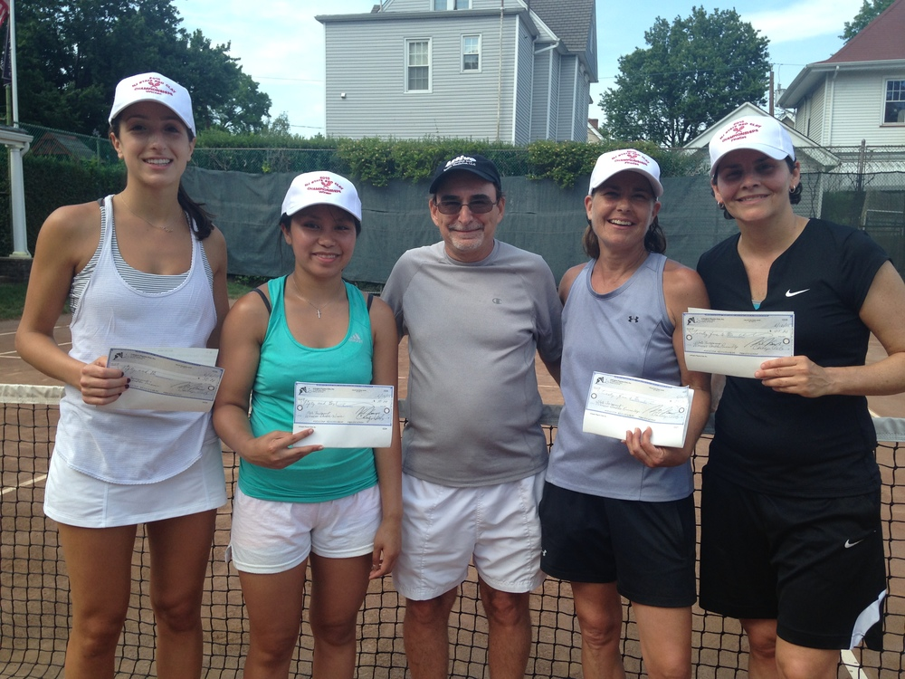 2015 Women's Doubles Winners, Nicole Koskovolis & Vanessa Canda & Runner-ups, Donna Sekanics & Evelyn Alfaro (right)