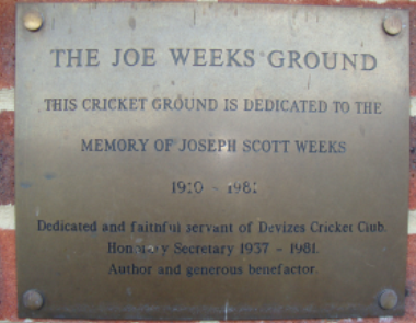 Joe Weeks sign - Devizes Cricket Club