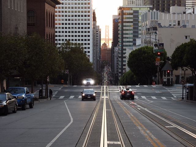 View of California Street from Nob Hill during one of our San Francisco Private Tours