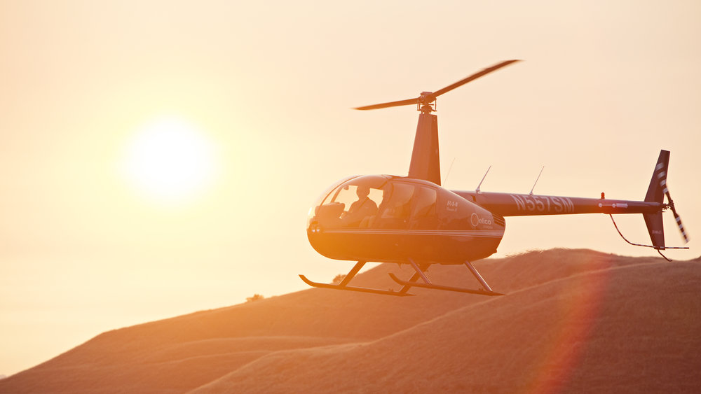 Photo of a private helicopter tour over Napa Valley