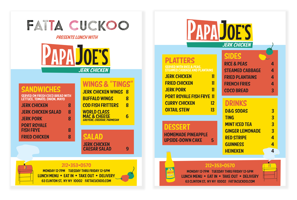 Menu Client: Papa Joe's Jerk Chicken