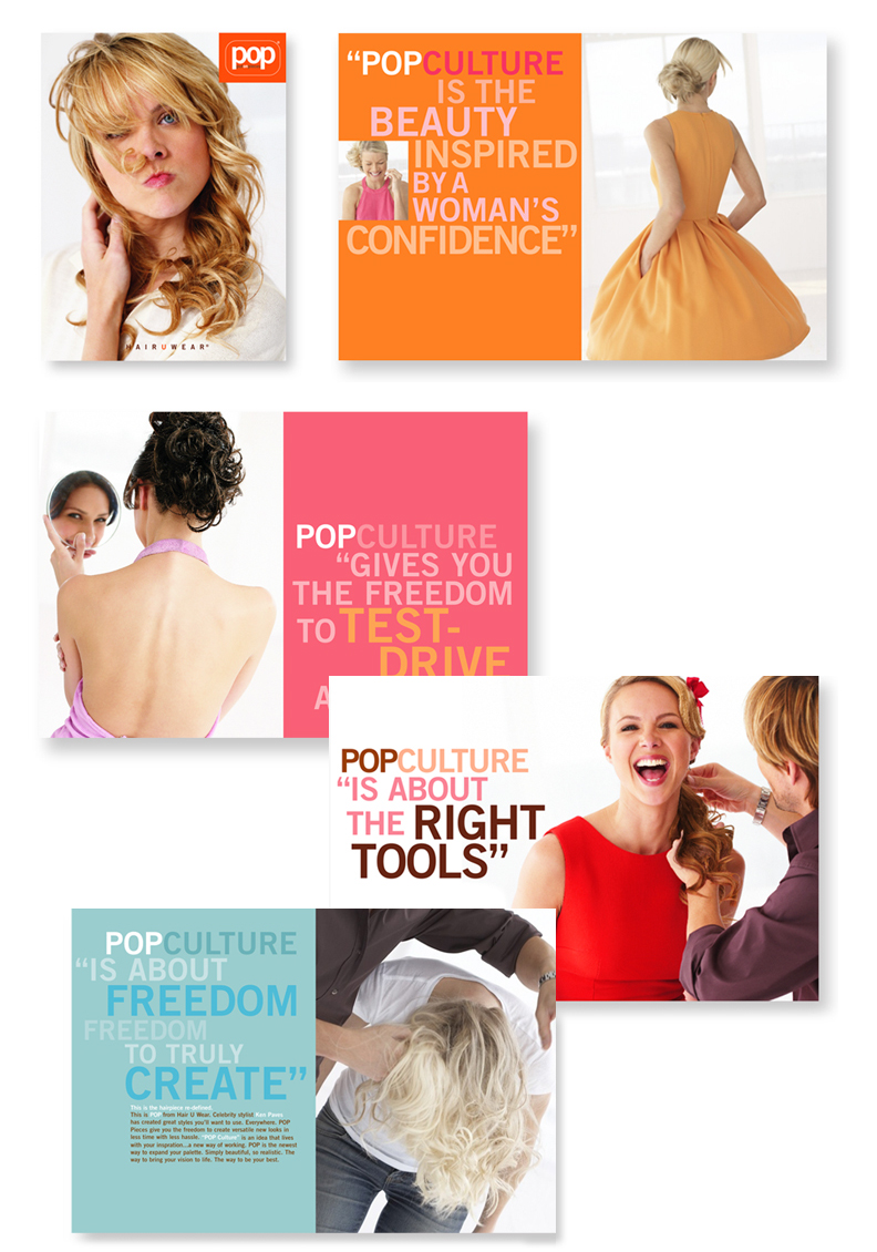 Consumer Marketing Materials Client POP/Hairuwear Creative Direction -  Carol Bokuniewicz