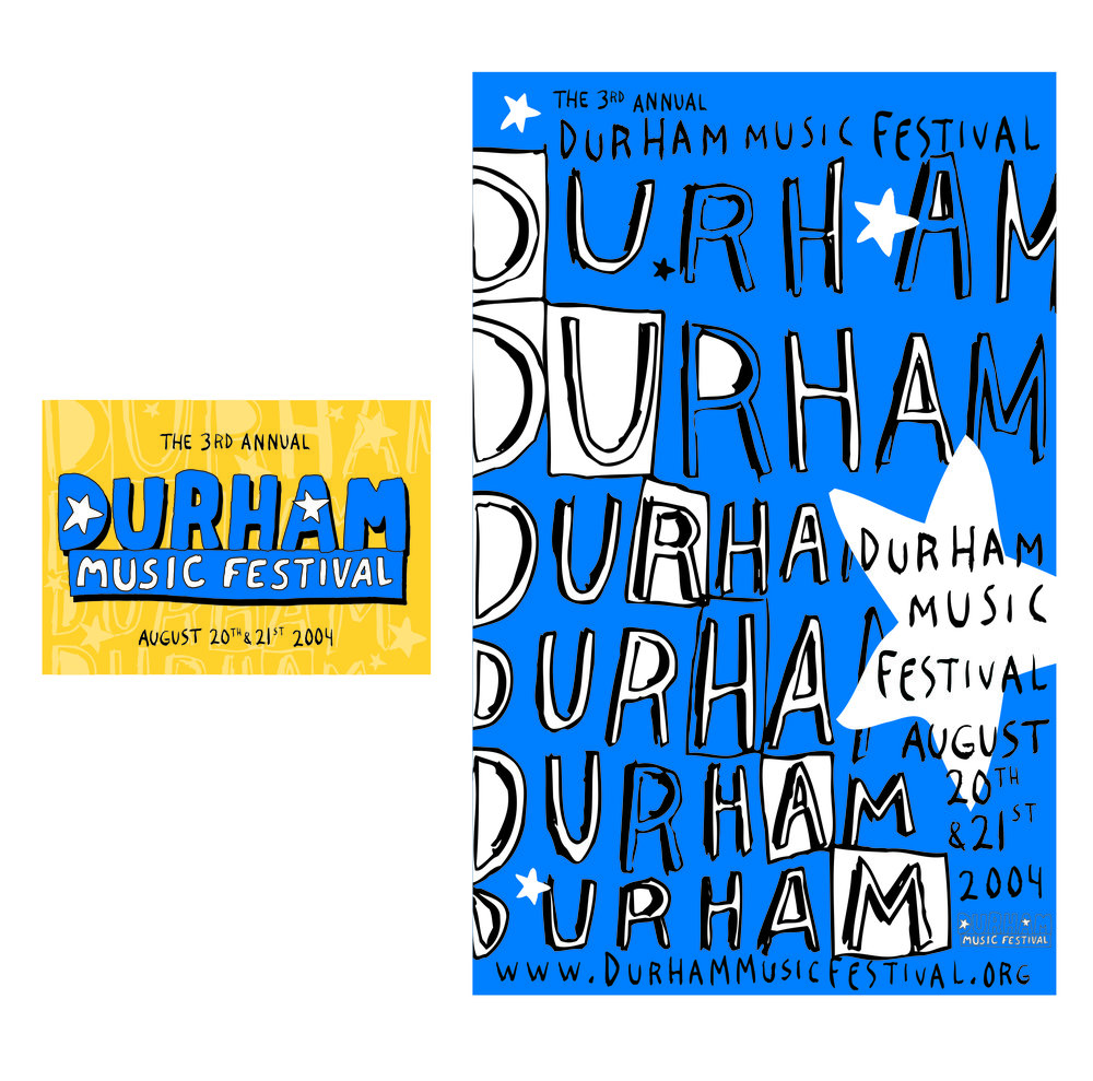 Postcard and Poster Client: Durham Music Festival