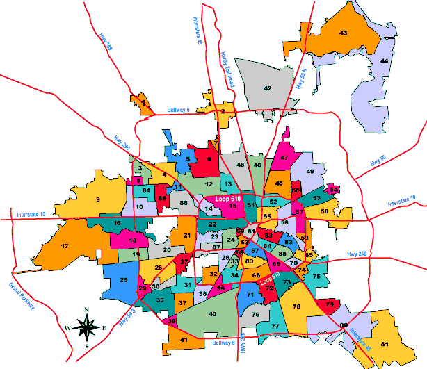Houston Super Neighborhoods map