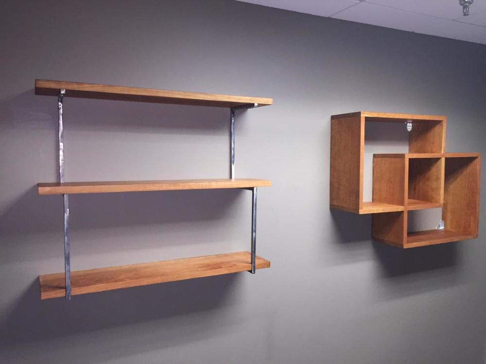 Custom Cherry Shelving