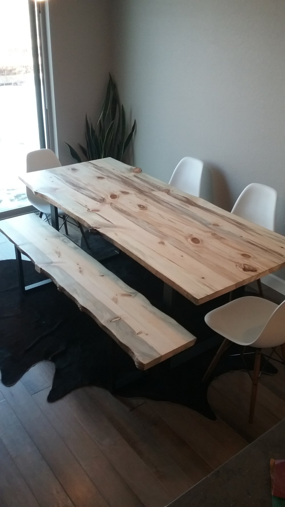 Beetle kill dining table