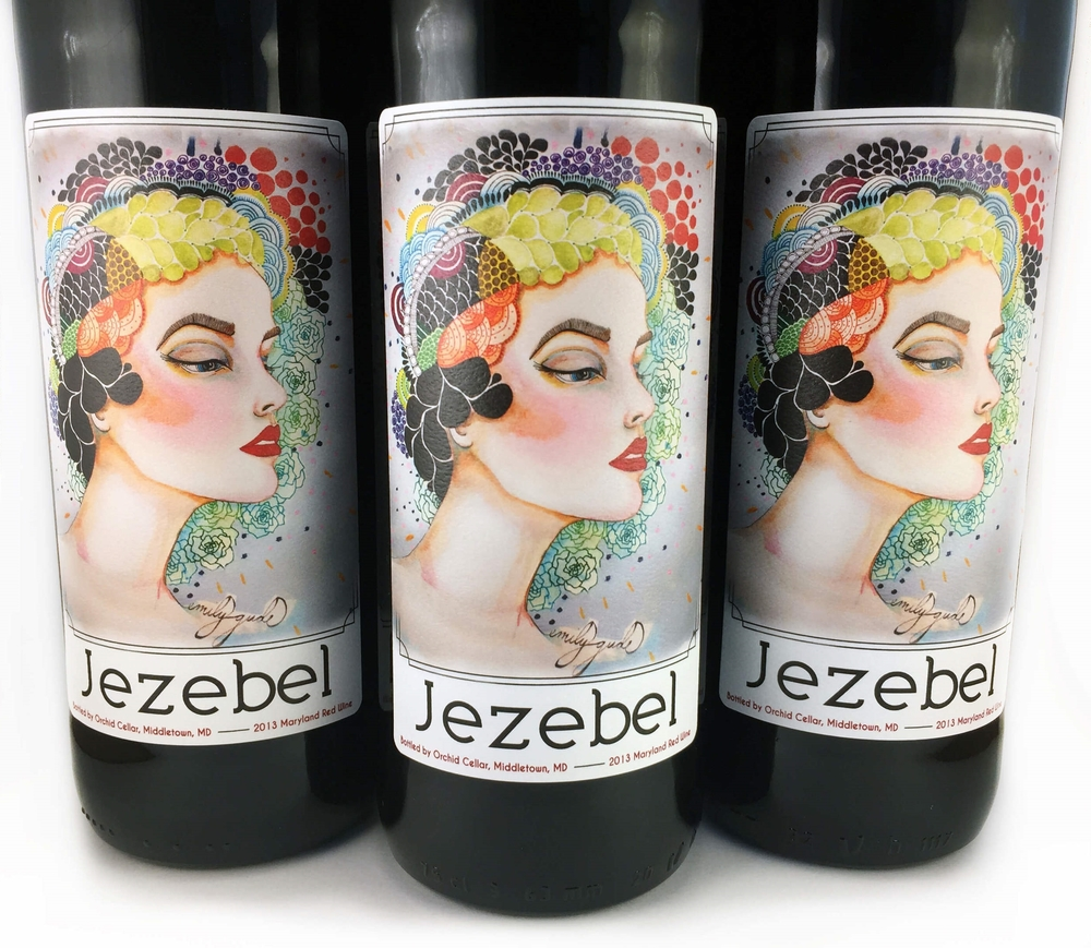 Jezebel Wine Family Label