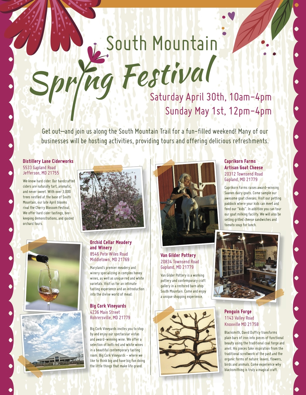 South Mountain Spring Festival Flyer