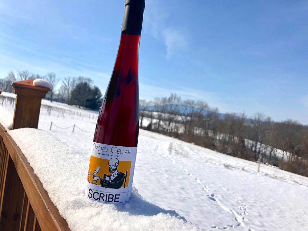 "New This Year - ""Scribe"" our tart cherry mead"