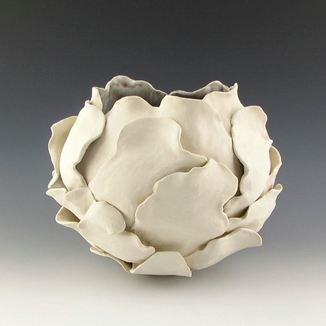 Ceramic Sculptural  Bloom Vessel