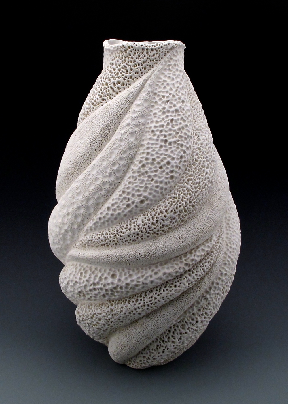 Creamy White Coastal Coral Collage large Vessel 1