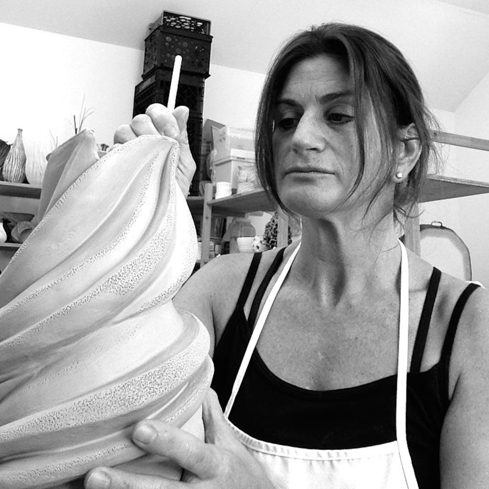 Judi Tavill  Ceramic Artist working 2015