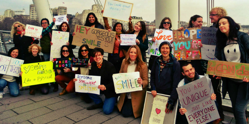 Happiness Activists are arranging actions in majorcities across the globe