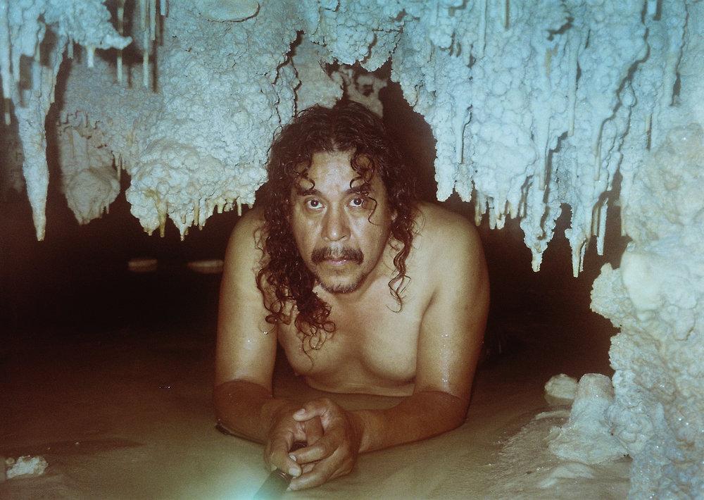 Mario in his cave, Tulum, Mexico 2018