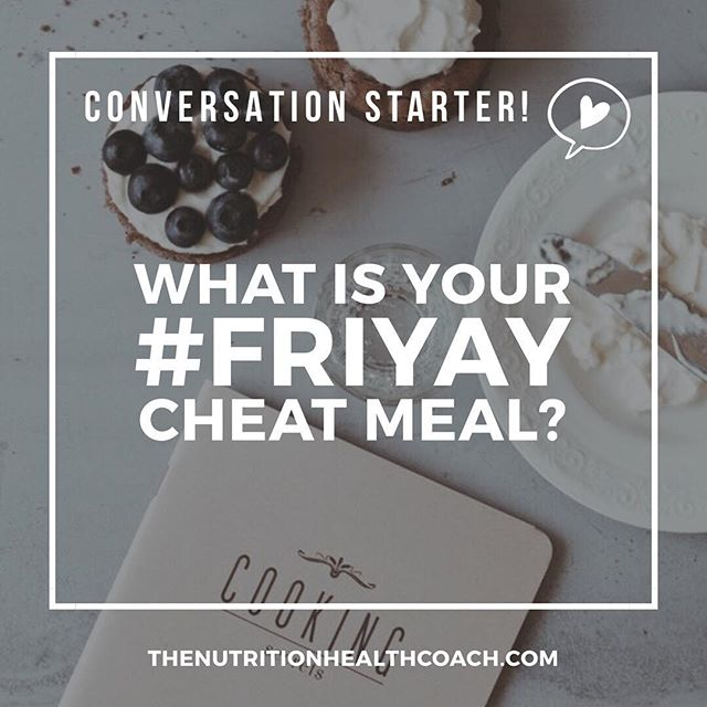 Let's have a conversation! 🎉 What is your #friyay cheat meal? Mine always happens to be a BIG GLASS OF 🍷! ————— #questionoftheday #question