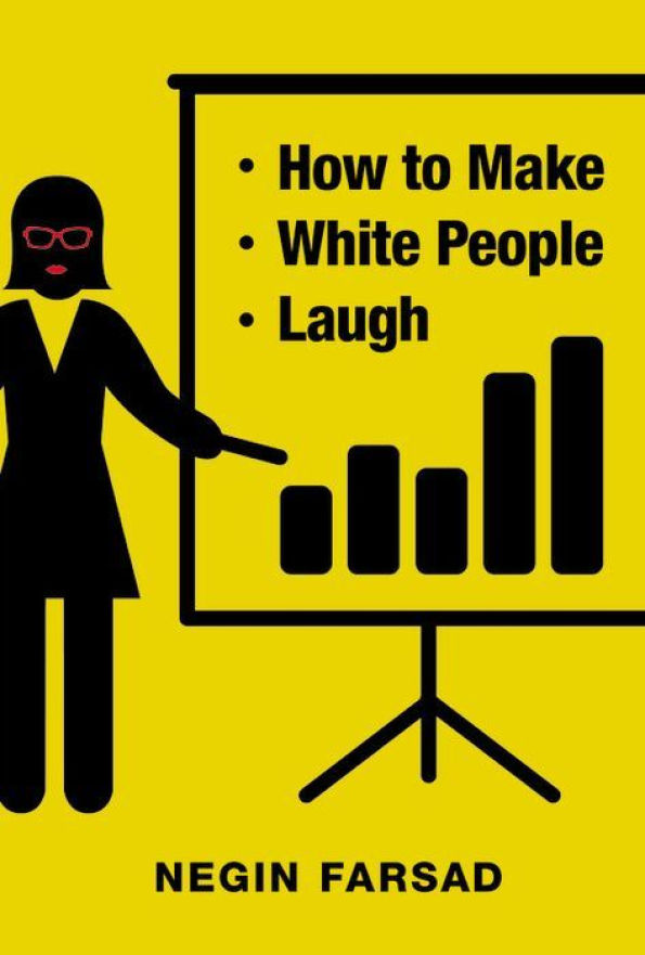 """How to Make White People Laugh"" is a memoir in essays about growing up Iranian-American in a post-9/11 world and the power of comedy to combat racism. Writing bluntly and hilariously about the elements of race we are often too politically correct to discuss, Farsad takes a long hard look at the iconography that still shapes our concepts of ""black,"" ""white,"" and ""Muslim"" today—and what it means when white culture defines the culture."