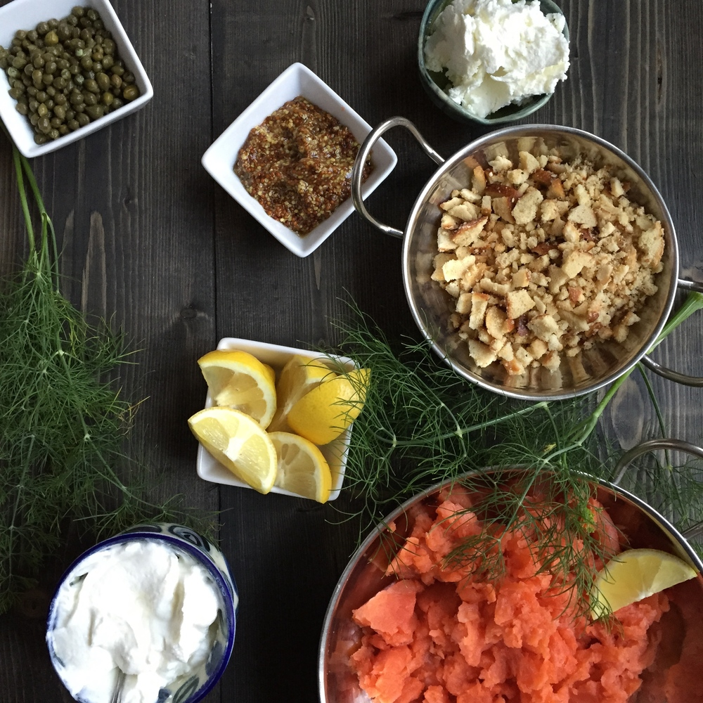 Salmon Burger Ingredients