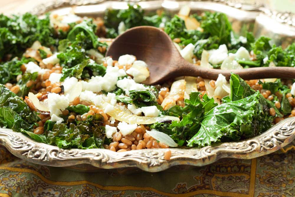 Wheat Berries with Feta