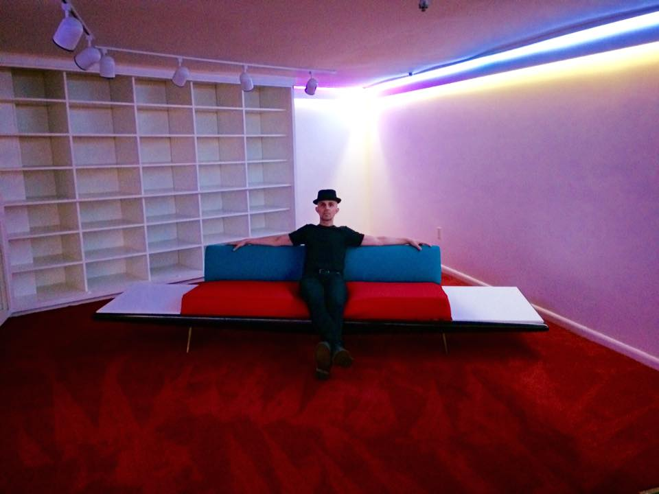 Sam Phillips' couch recently reupholstered by Jack White.