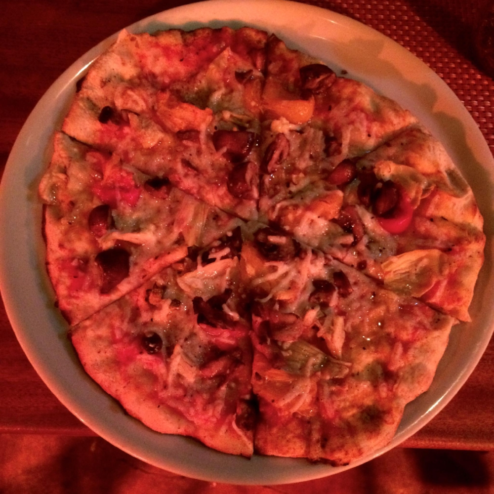 Vegan pizza at Bohemian
