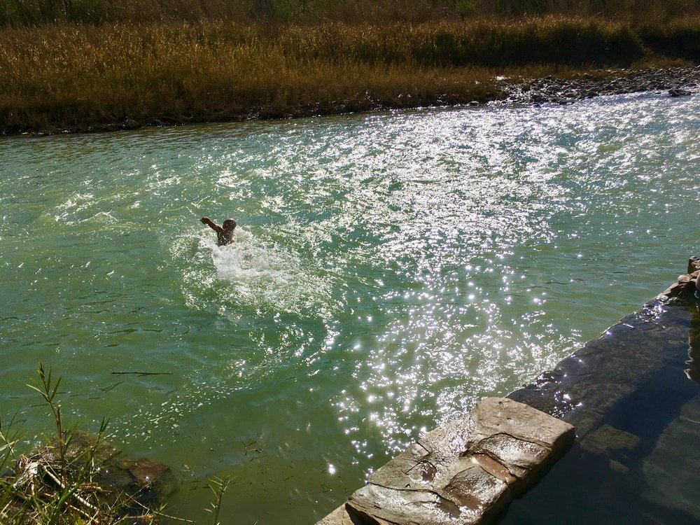 Swimming across the Rio Grande from Texas to Mexico