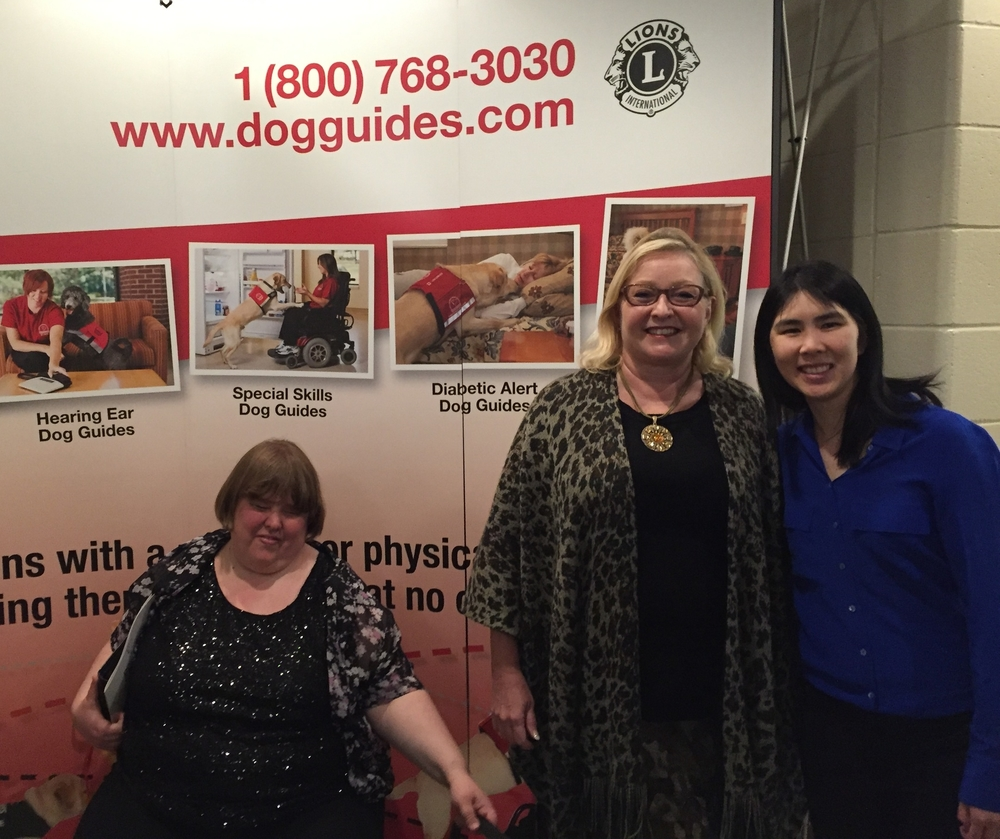 Marilyn Smith and I with a fellow graduate of the Canine Vision Dog Guide Program.