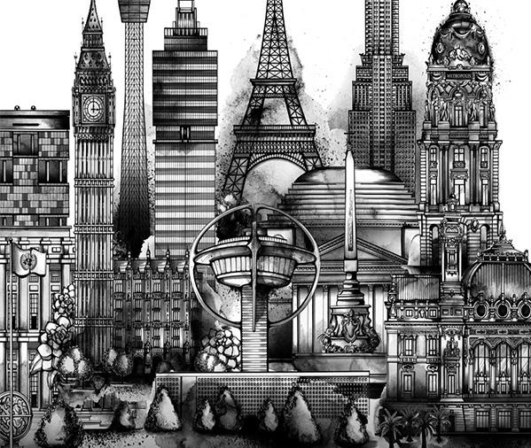Tweet City by Nanami Cowdroy;  www.nanamicowdroy.com