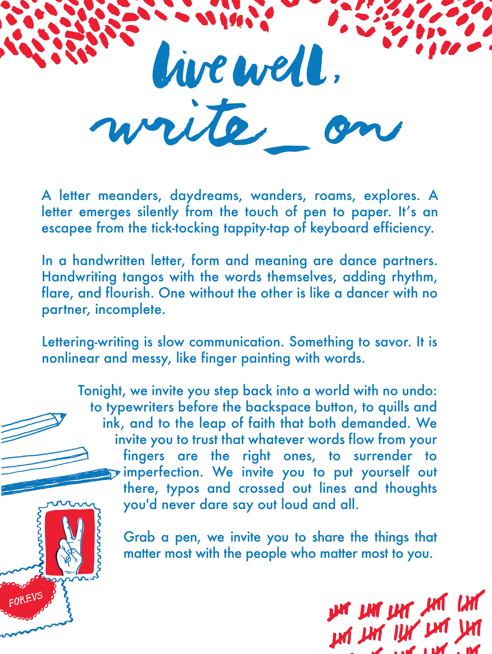 Live Well Write On  WriteOn
