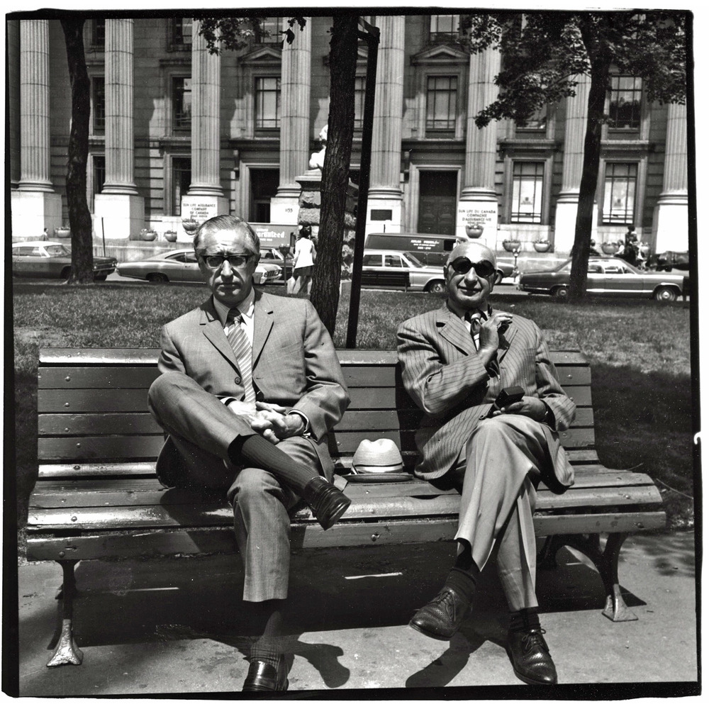 Two Men on a Park Bench, Montreal (1972)