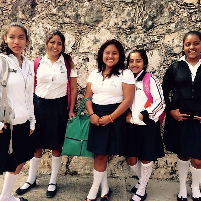 Island schoolgirls.