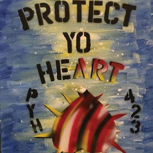 Check out this #protectyoheart piece by @uncuttart through the link in our profile