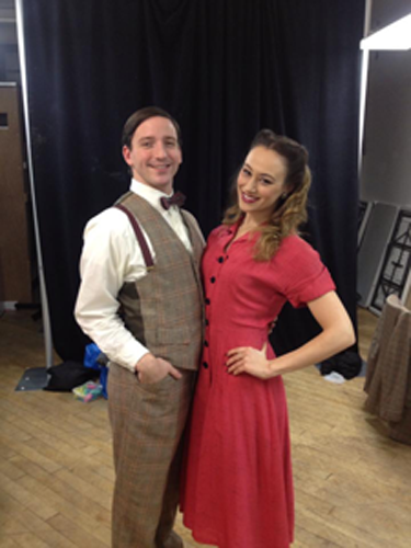 "Andrew and Whitney Maris Brown in ""It's A Wonderful Life"""