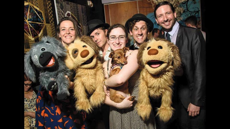 "Cast and Puppet Friends of ""Rescue Rue"""