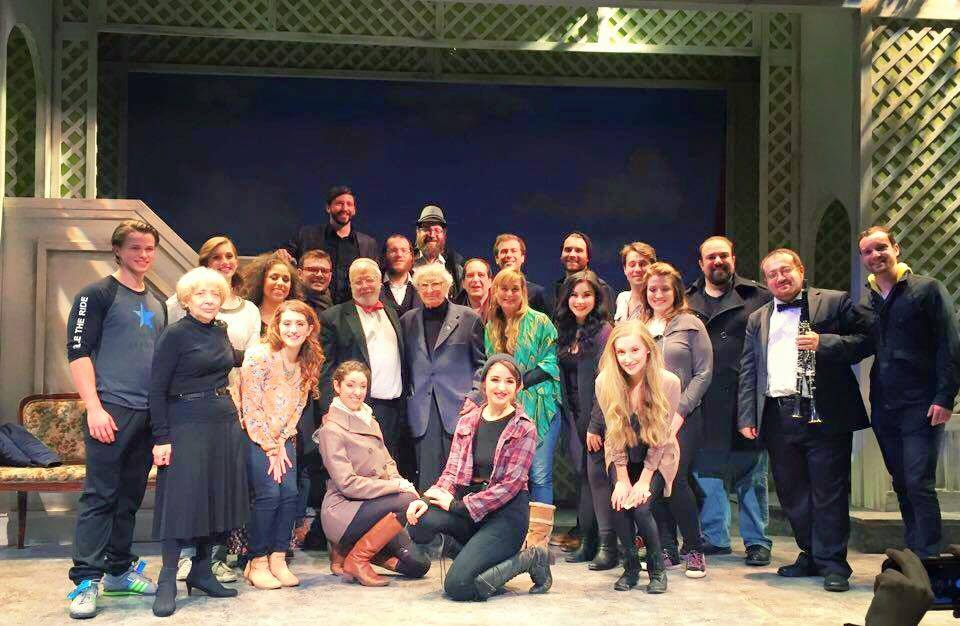 "Cast and Creatives of ""Di Goldene Kale"" with Sheldon Harnick"