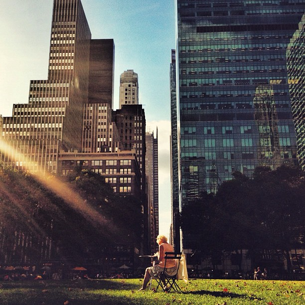 Between Two Giants | Bryant Park (Taken with  Instagram )