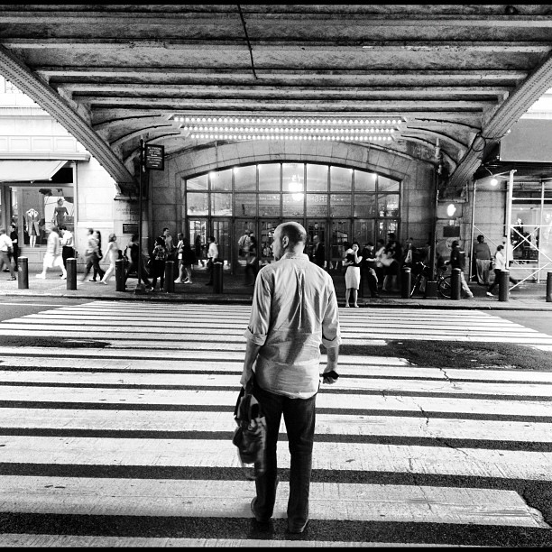 Waiting to Cross | Under Pershing Square