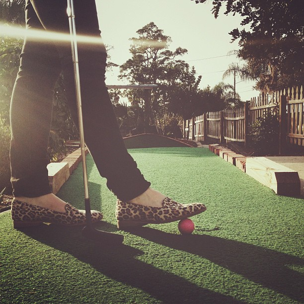 @juliapierce styling on the mini golf course