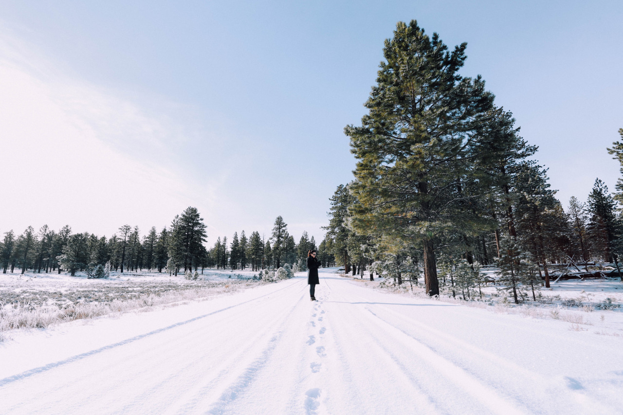 Nicole in fresh snowfall | Bryce Canyon | December 2014