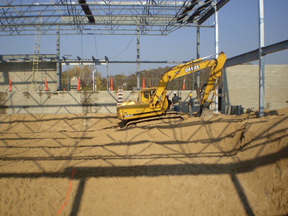 Excavation for Paine Aquatic Center, Manistee