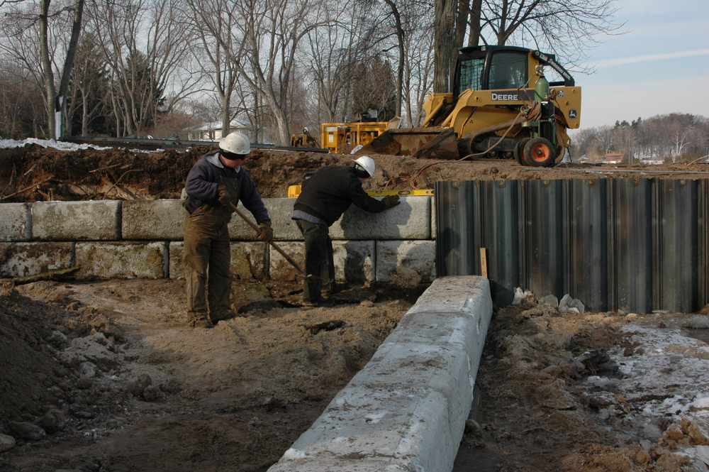 Steel Seawall/Redi-Rock Placement/Residential Beach Area, photo 1