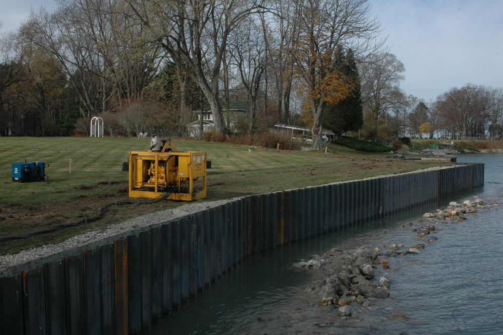 Steel Seawall Installation