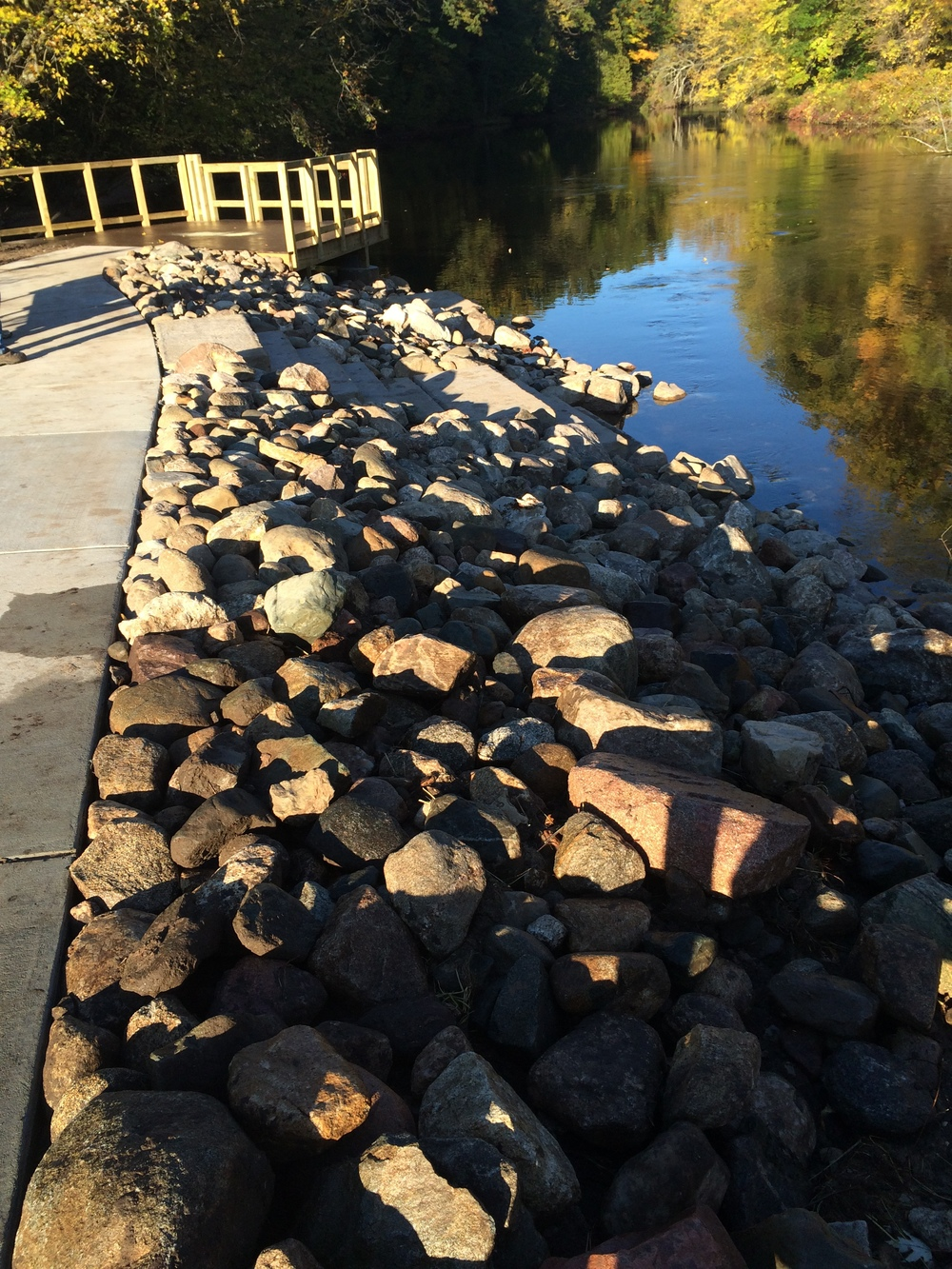 Custer Barrier Free Fish Access Project: shoreline protection